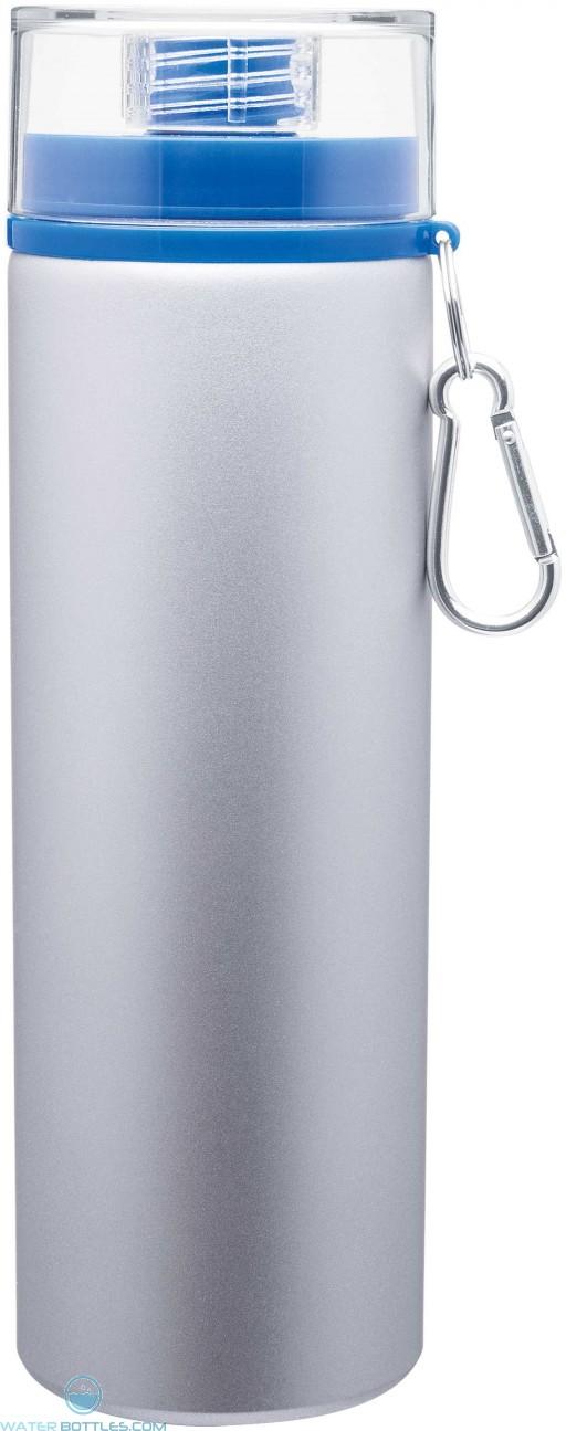 H2Go Trek Aluminum Water Bottles - Silver | 28 oz - Blue