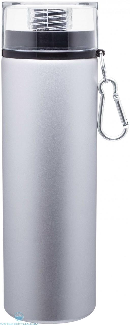 H2Go Trek Aluminum Water Bottles - Silver | 28 oz - Black