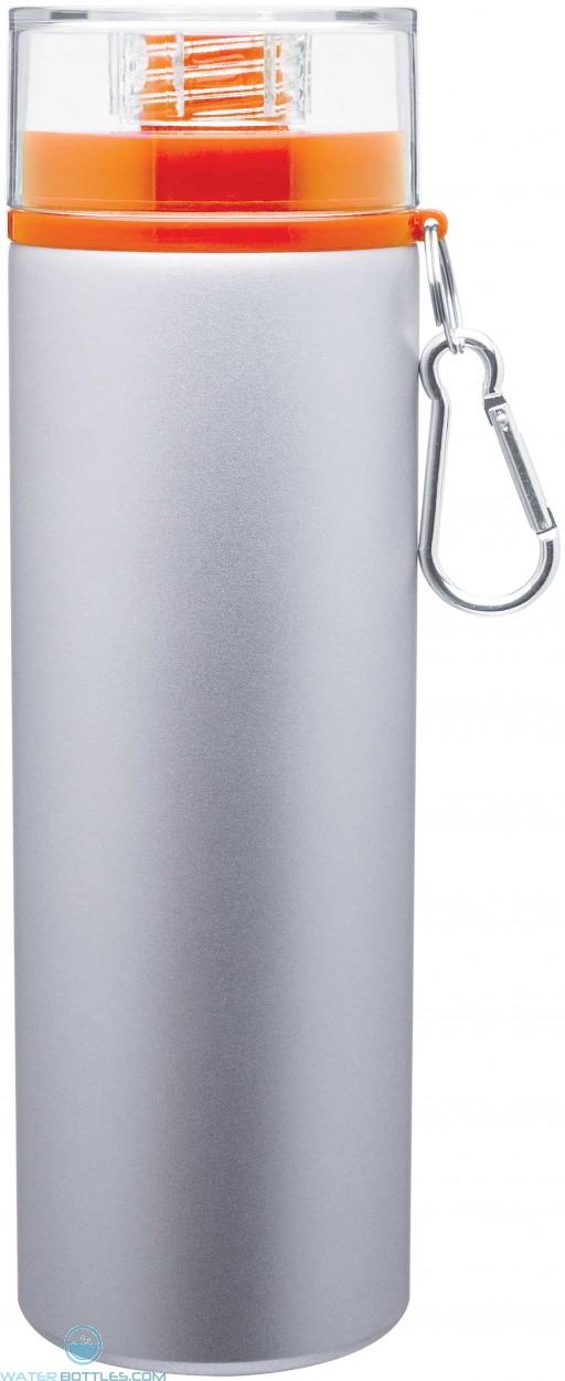 H2Go Trek Aluminum Water Bottles - Silver | 28 oz - Orange