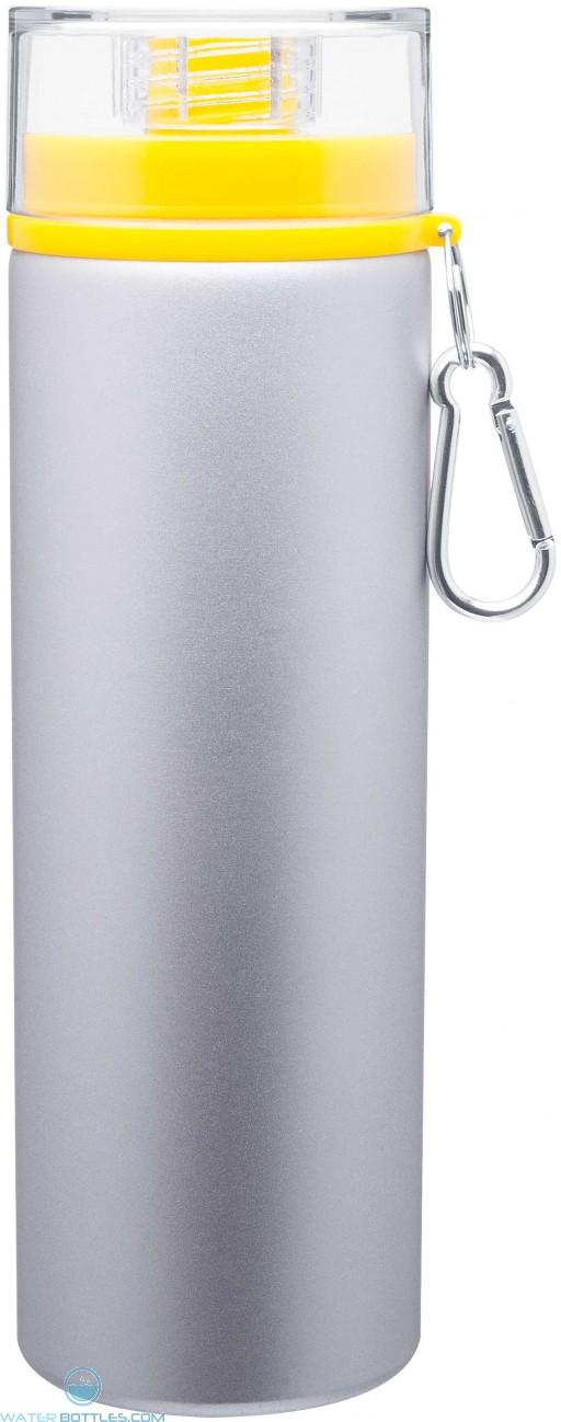 H2Go Trek Aluminum Water Bottles - Silver | 28 oz - Yellow
