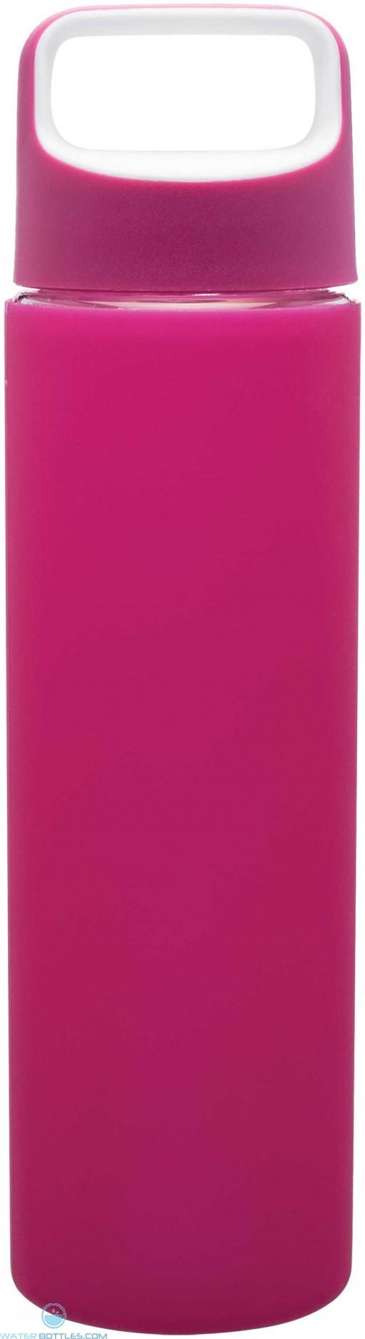 H2Go Inspire Glass Water Bottles | 18 oz - Pink