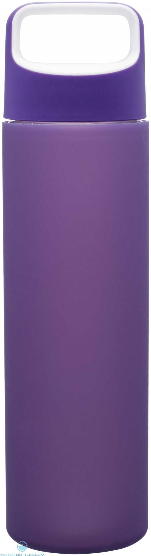 H2Go Inspire Glass Water Bottles | 18 oz - Purple