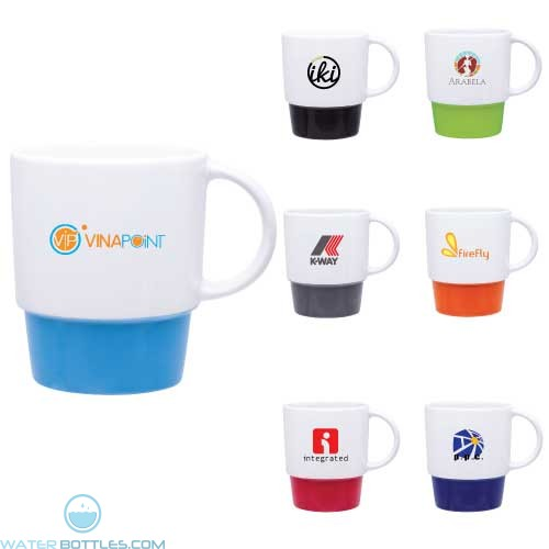 Custom Coffee Mugs - Single Wall Ceramic Galo Mug   12 oz