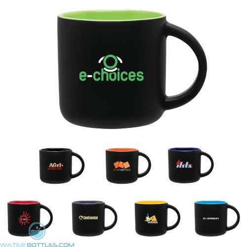 Custom Coffee Mugs - Matte Black Ceramic Minolo Mug | 14 oz