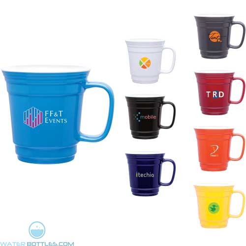 Custom Coffee Mugs - Single Wall Ceramic Player Mug | 12 oz