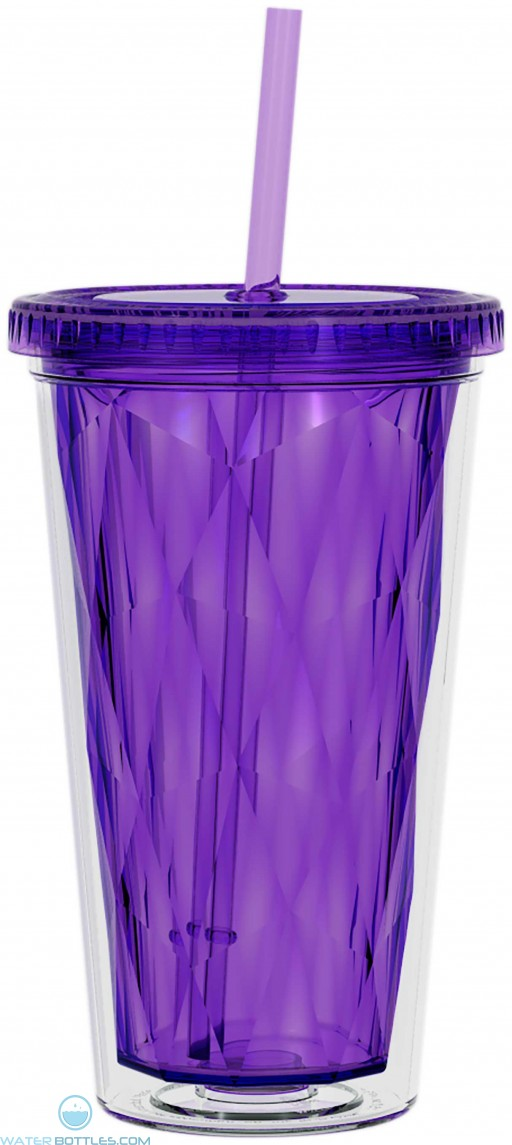 H2Go Spirit Optic Acrylic Tumblers   16 oz - Purple