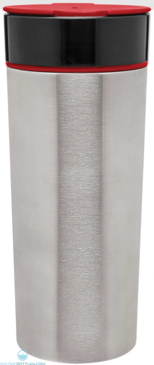 H2Go Fuse Stainless Steel Tumblers   16 oz - Red