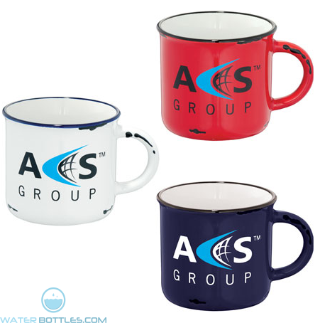 Custom Logo Mugs - 17 oz Enamel Ceramic Mug