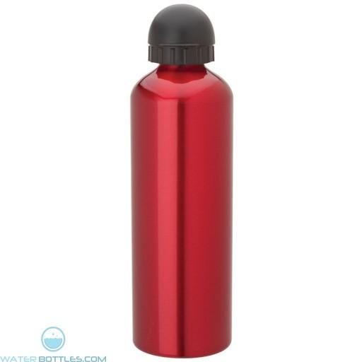 Domed Sport Flask   33.8 oz - Red