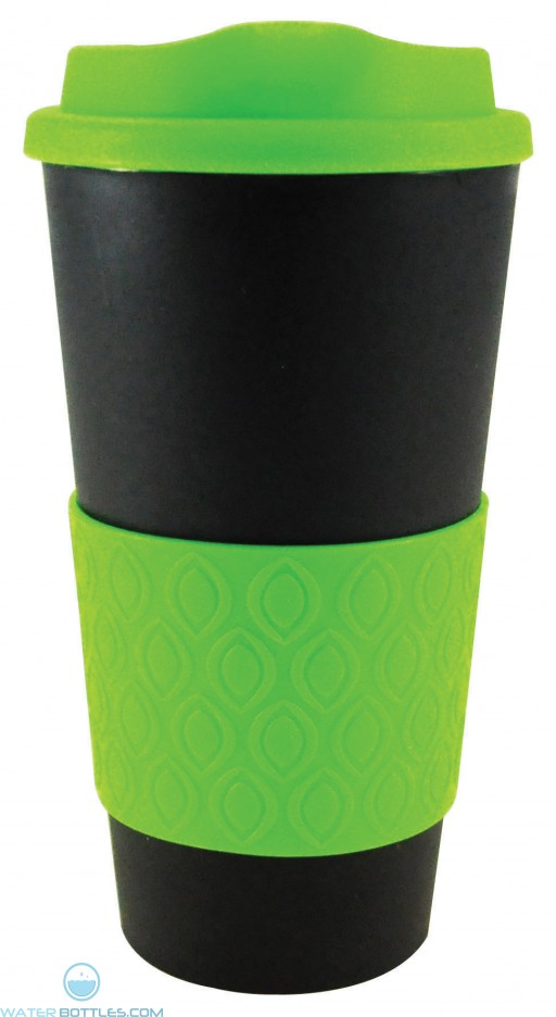 Grip N Go Bold   16 oz - Black with Neon Green