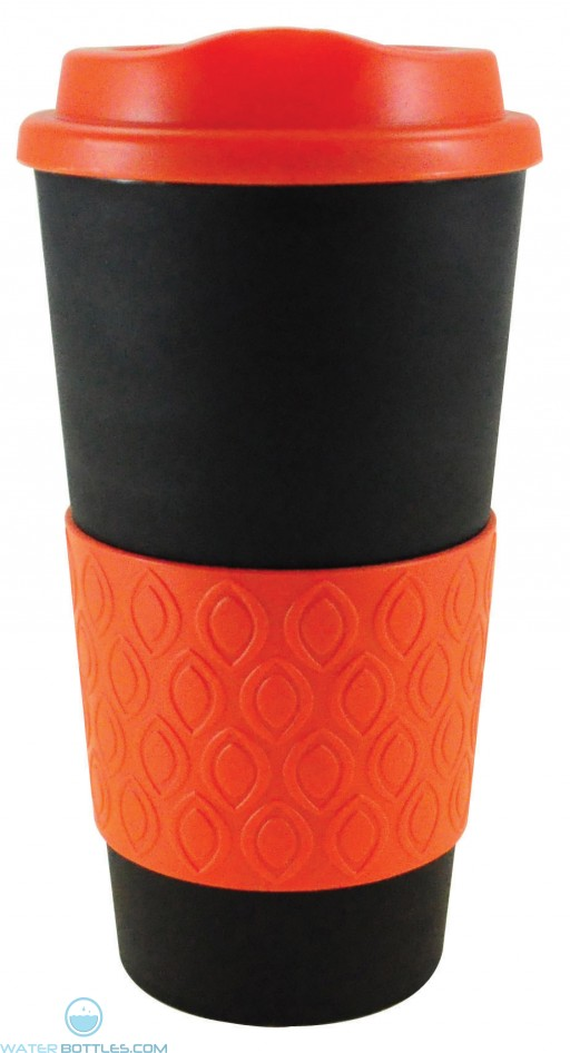 Grip N Go Bold | 16 oz - Black with Orange