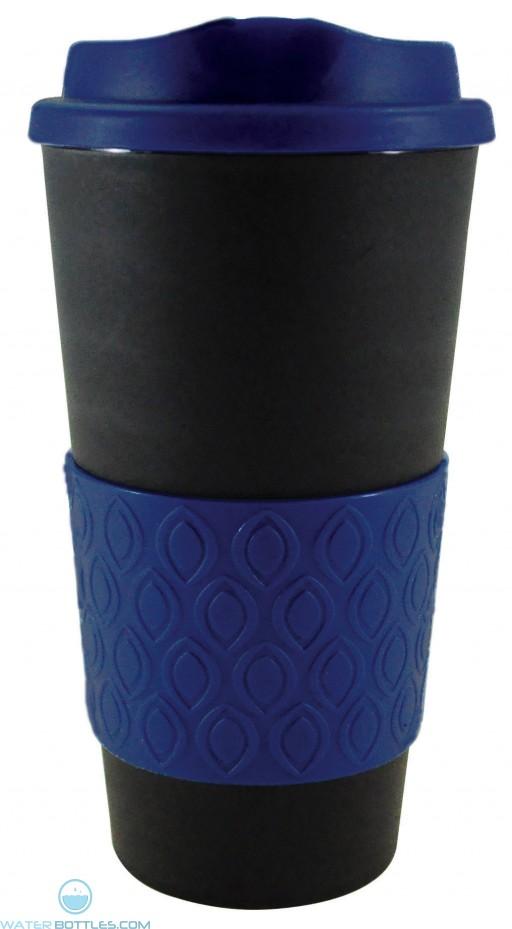 Grip N Go Bold | 16 oz - Black with Reflex Blue