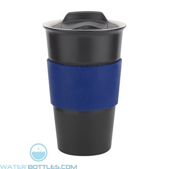 Java | 12 oz - Black with Blue Gripper