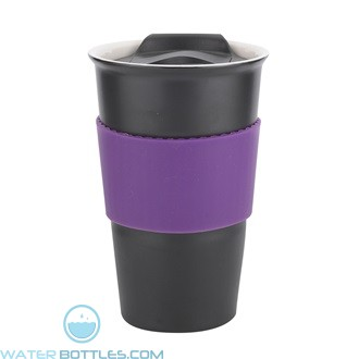 Java | 12 oz - Black with Purple Gripper