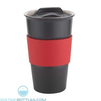 Java | 12 oz - Black with Red Gripper
