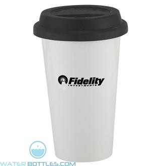 I`m Not A Plastic Cup | 10 oz - White with Black Lid