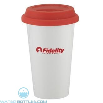 I`m Not A Plastic Cup | 10 oz - White with Red Lid