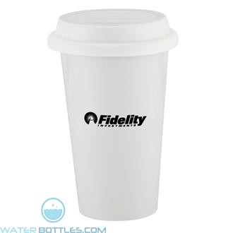 I`m Not A Plastic Cup | 10 oz - White with White Lid