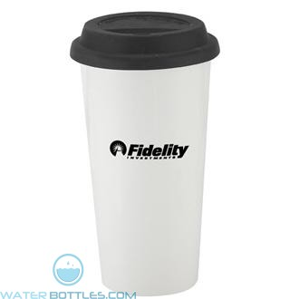 I`m Not A Big Plastic Cup | 16 oz - White with Black Lid