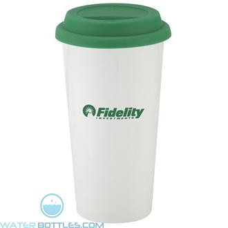 I`m Not A Big Plastic Cup | 16 oz - White with Green Lid
