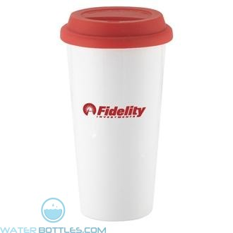 I`m Not A Big Plastic Cup | 16 oz - White with Red Lid