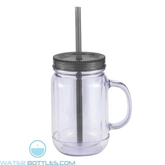 Mason Master | 20 oz - Clear with Black Lid