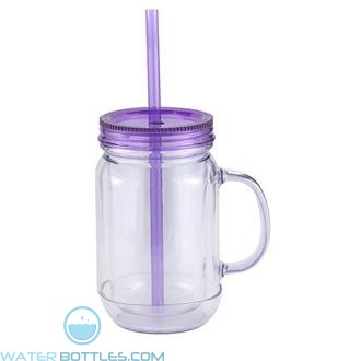 Mason Master | 20 oz - Clear with Purple Lid