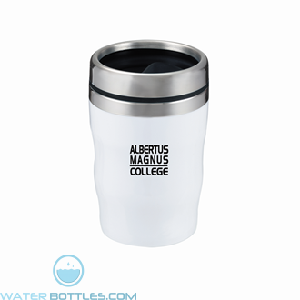 Levana | 12 oz - White with Black Lid and Band