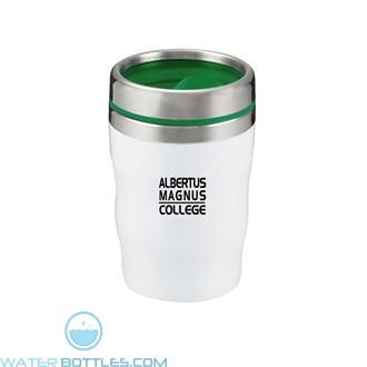 Levana | 12 oz - White with Green Lid and Band