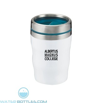 Levana | 12 oz - White with Teal Lid and Band