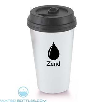 I`m A Paper Cup - Not! | 16 oz - White with Black Lid