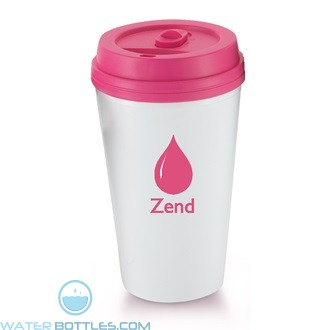 I`m A Paper Cup - Not! | 16 oz - White with Pink Lid