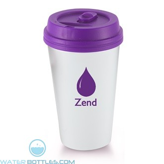 I`m A Paper Cup - Not! | 16 oz - White with Purple Lid