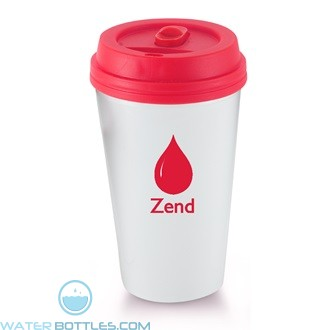 I`m A Paper Cup - Not! | 16 oz - White with Red Lid