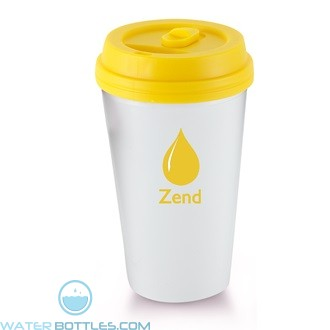 I`m A Paper Cup - Not! | 16 oz - White with Yellow Lid