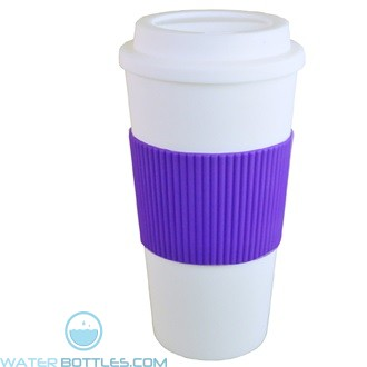 Brazilian | 16 oz - White with Purple Grip