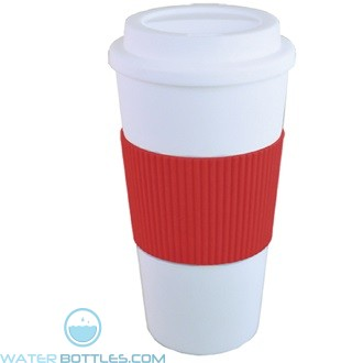 Brazilian | 16 oz - White with Red Grip