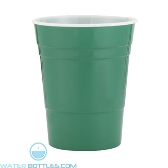 Reusable Plastic Party Cup | 16 oz - Green