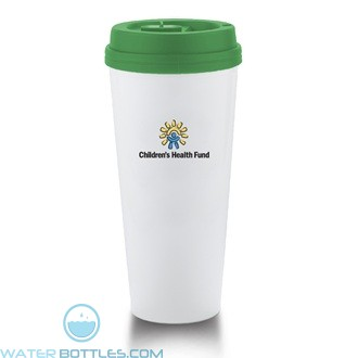 I`m Not A Venti Cup | 20 oz - White with Green Lid