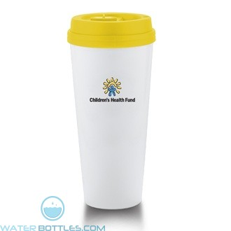 I`m Not A Venti Cup | 20 oz - White with Yellow Lid