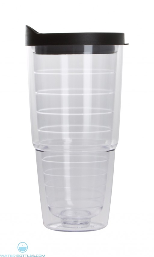 The Pacifico Insulated Tumblers | 20 oz - Clear with Black Lid