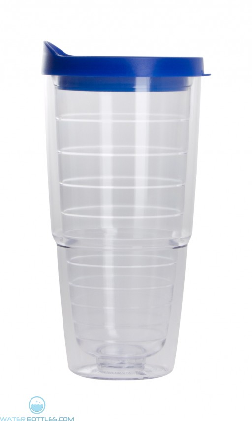 The Pacifico Insulated Tumblers | 20 oz - Clear with Blue Lid