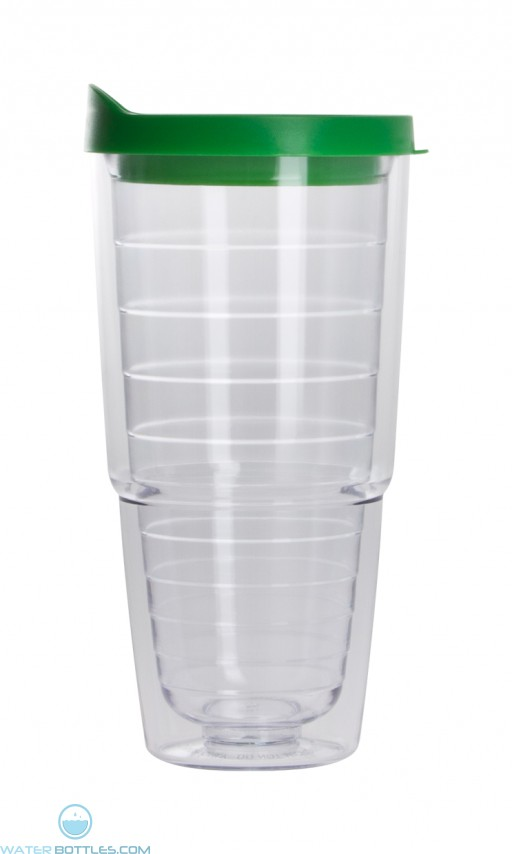 The Pacifico Insulated Tumblers | 20 oz - Clear with Green Lid
