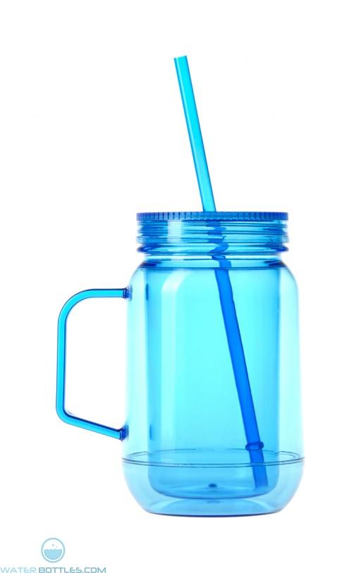 Double Wall Mason Jar   16 oz - Blue
