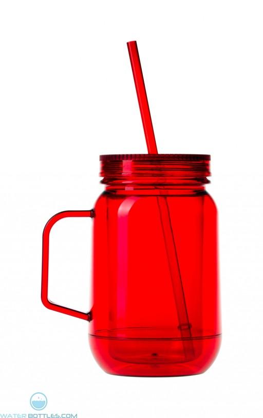 Double Wall Mason Jar | 16 oz - Red