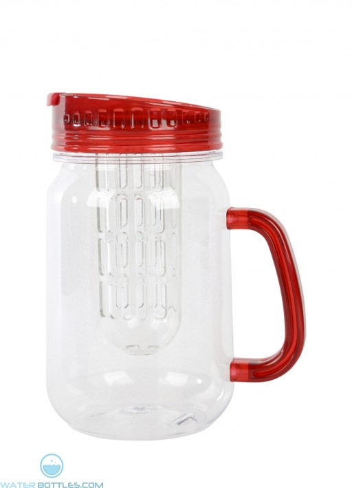 Infuser Mason Jar Mugs | 32 oz - Red