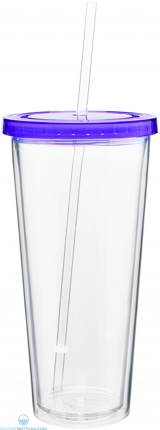 20 oz spirit tumbler with color lid-purple