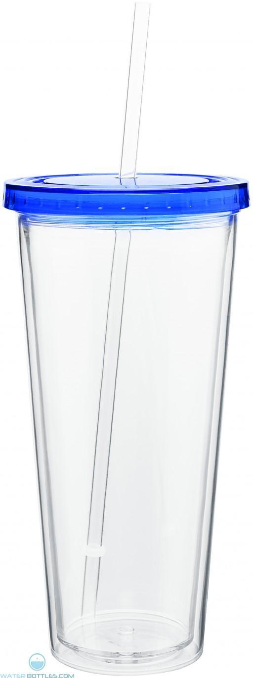 20 oz spirit tumbler with color lid-blue