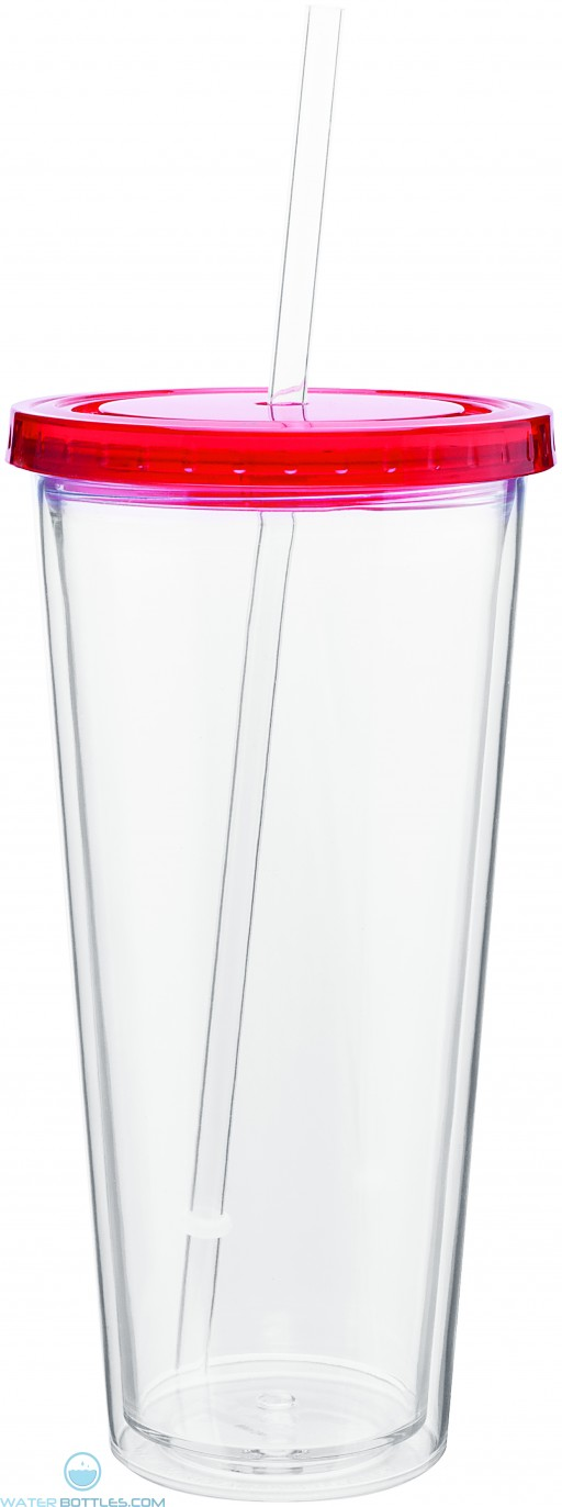 20 oz spirit tumbler with color lid-red