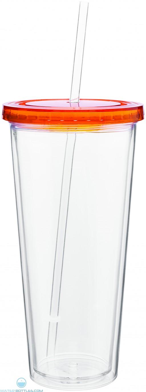 20 oz spirit tumbler with color lid-tangerine